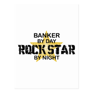 Banker Rock Star by Night Postcard