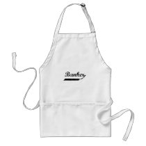 Banker typography adult apron