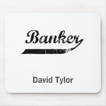 Banker typography mouse pad