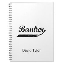 Banker typography notebook