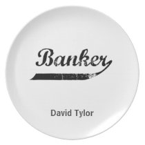 Banker typography plate