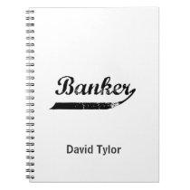 Banker typography spiral notebook