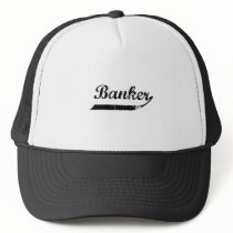 Banker typography trucker hat