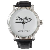Banker typography wristwatches