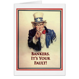 Bankers Uncle Sam Poster Card