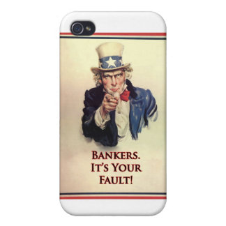 Bankers Uncle Sam Poster iPhone 4/4S Covers