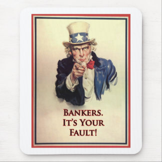 Bankers Uncle Sam Poster Mouse Pad