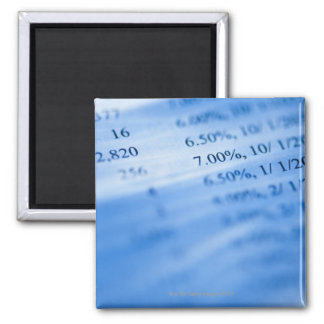 Banking charts 2 inch square magnet
