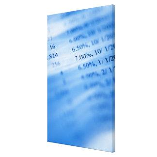 Banking charts canvas print