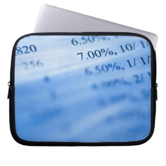Banking charts laptop sleeve