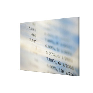 Banking statements canvas print