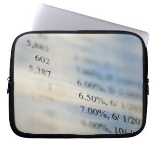 Banking statements laptop sleeves