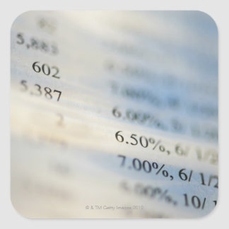 Banking statements square sticker