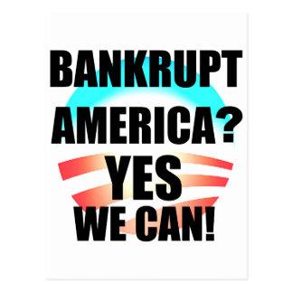 Bankrupt America? Postcard