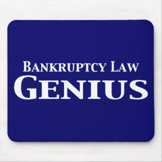 Bankruptcy Law Genius Gifts Mouse Pad