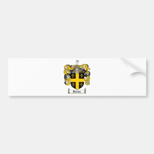 BANKS FAMILY CREST -  BANKS COAT OF ARMS CAR BUMPER STICKER