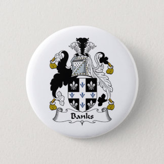 Banks Family Crest Button