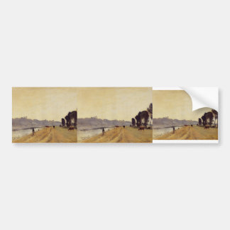 Banks of a River by Camille Corot Bumper Sticker