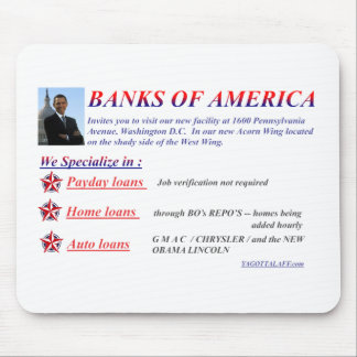BANKS OF AMERICA MOUSE PAD