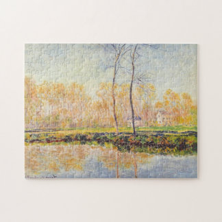 Banks of River Epte at Giverny Monet Fine Art Jigsaw Puzzle