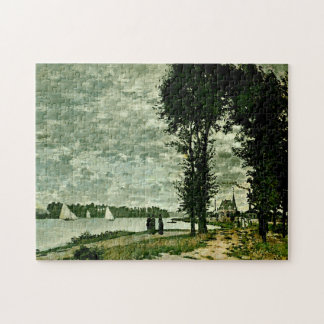 Banks of Seine Argenteuil Monet Fine Art Jigsaw Puzzle