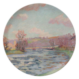 Banks of the Creuse, Limousin, c.1912 (oil on canv Dinner Plate