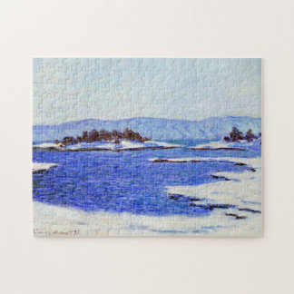Banks of the Fjord at Christiania Monet Fine Art Jigsaw Puzzle