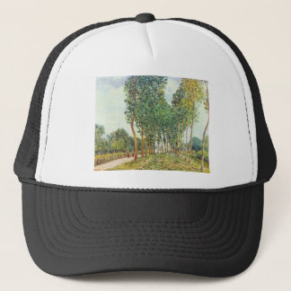 Banks of the Loing in Moret by Alfred Sisley Trucker Hat