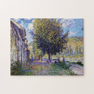 Banks of the Seine at Lavacourt Monet Fine Art Jigsaw Puzzle