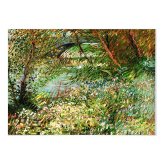 Banks of the Seine in the Spring - van Gogh Card