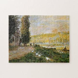 Banks of the Seine, Lavacourt Monet Fine Art Jigsaw Puzzle