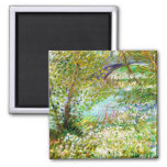 Banks of the Seine  Pont  Clichy Van Gogh painting Refrigerator Magnet