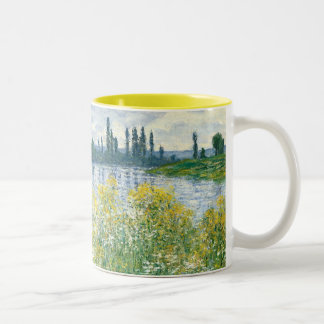 Banks of the Seine, Vetheuil, 1880 (oil Two-Tone Coffee Mug