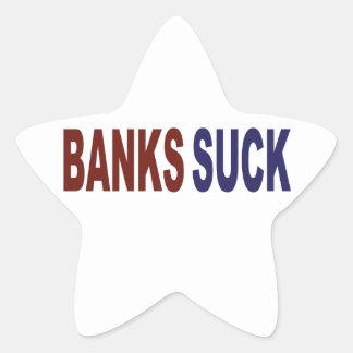 Banks Suck Star Sticker
