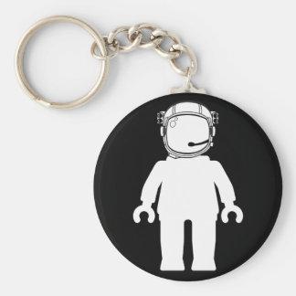 Banksy Style Astronaut Minifig Basic Round Button Keychain