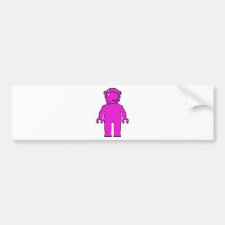 Banksy Style Astronaut Minifig Car Bumper Sticker