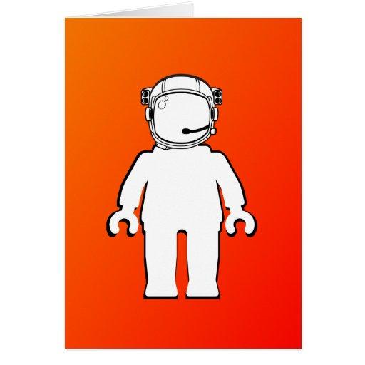 Banksy Style Astronaut Minifig Card