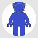 Banksy Style Astronaut Minifig Classic Round Sticker