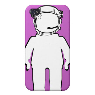 Banksy Style Astronaut Minifig Cover For iPhone 4