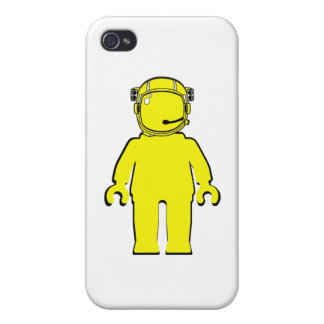 Banksy Style Astronaut Minifig Case For iPhone 4