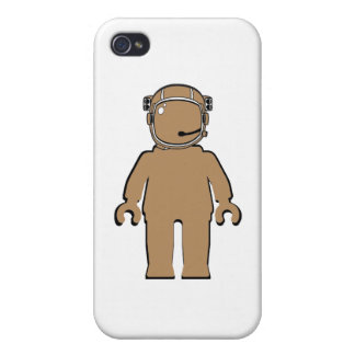 Banksy Style Astronaut Minifig Cases For iPhone 4