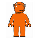 Banksy Style Astronaut Minifig Post Card
