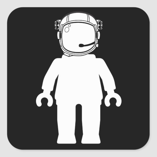 Banksy Style Astronaut Minifig Square Sticker