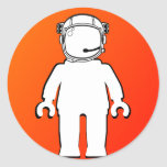 Banksy Style Astronaut Minifig Stickers