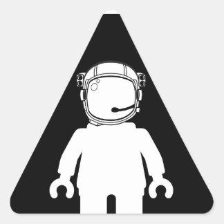 Banksy Style Astronaut Minifig Triangle Sticker