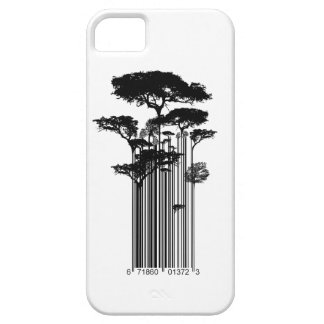 Banksy Style Barcode Trees illustration iPhone 5 Case
