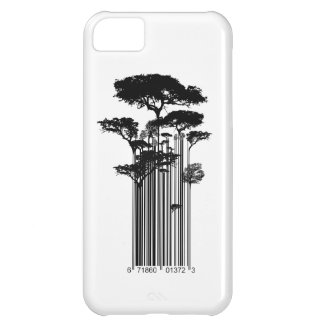 Banksy Style Barcode Trees illustration Cover For iPhone 5C
