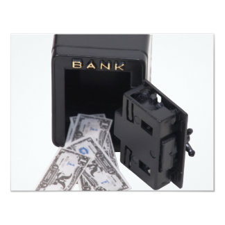 BankVault070109 4.25x5.5 Paper Invitation Card
