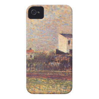 Banlieue by Georges Seurat iPhone 4 Covers