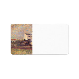 Banlieue by Georges Seurat Personalized Address Label